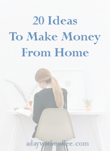 20 ideas to make money from home