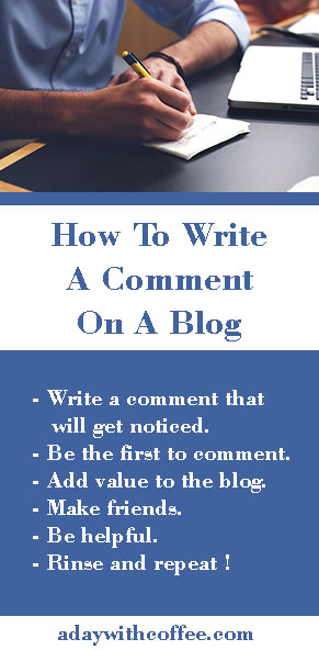 how to write a comment on blogs