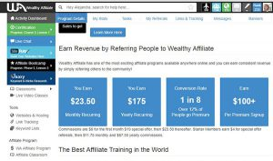 how to make money wealthy affiliate