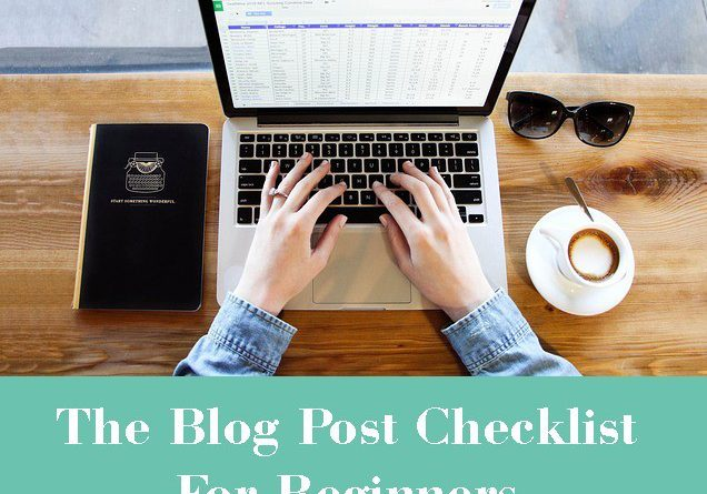 blog post checklist for beginners