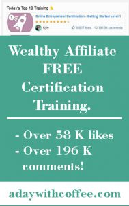 Wealthy Affiliate Certification Training