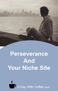 Perseverance And Your Niche Site - Man Looking At City